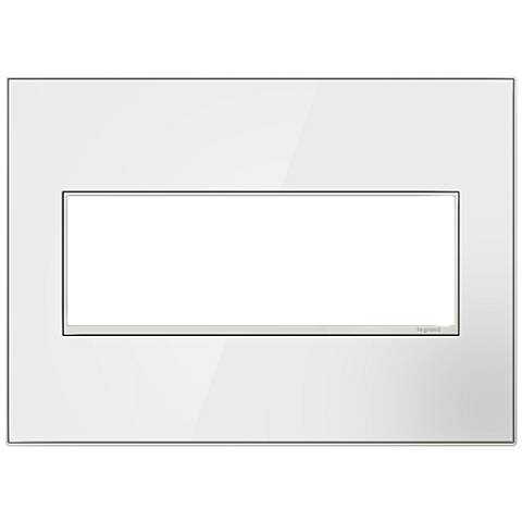 adorne® Mirror White on White 3-Gang Metal Wall Plate