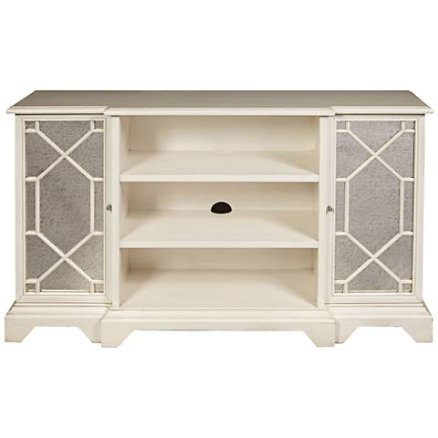 PFC Accents Madison White and Mirrored 2-Door TV Stand