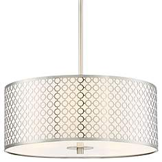 George Kovacs Dots 18 Wide Brushed Nickel Pendant Light