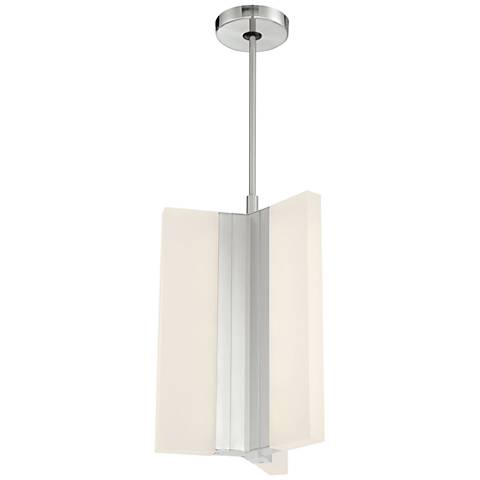"Skinny 10 1/4"" Wide Brushed Nickel Tall LED Mini Pendant"