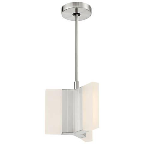 "Skinny 10 1/4"" Wide Brushed Nickel LED Mini Pendant"