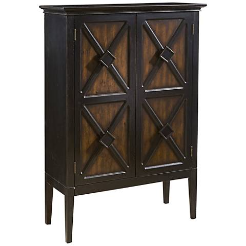 PFC Accents Norman Two-Toned 2-Door Wine Cabinet