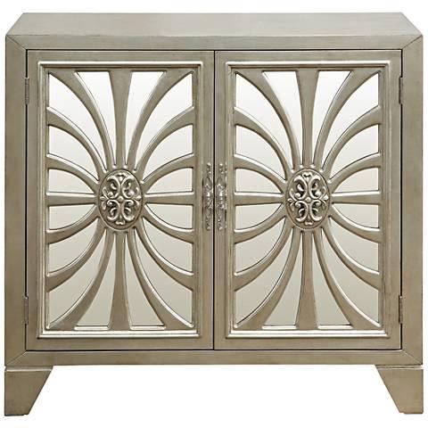 PFC Accents Decatur Metallic and Mirrored 2-Door Bar Cabinet