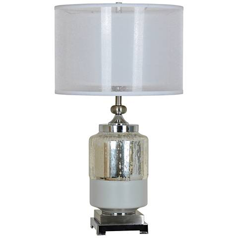 Crestview Collection Salon Mercury Glass Double-Shade Table Lamp