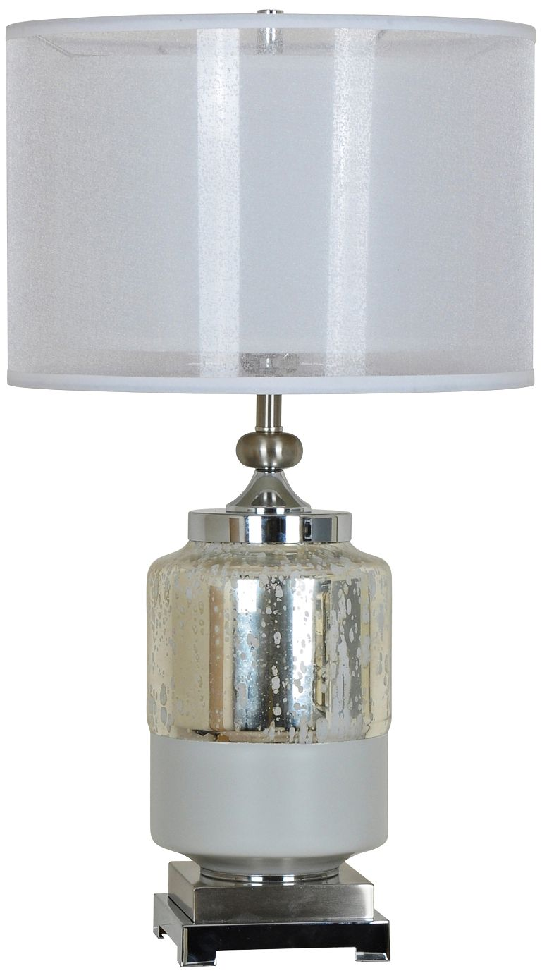 Crestview Collection Salon Mercury Glass Double Shade Table Lamp