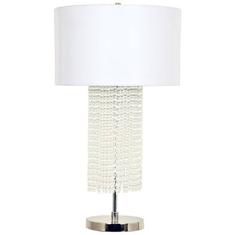 Crestview Collection Valdese Chrome Beaded Crystal Table Lamp