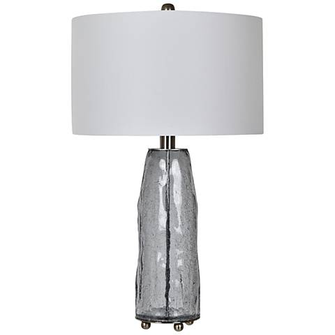 Crestview Collection Lucca Gray Crackle Glass Table Lamp