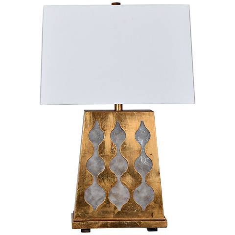 Crestview Collection Ravello Gold Table Lamp with Nightlight