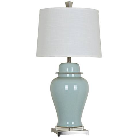 Crestview Collection Nico Blue Ceramic Urn Table Lamp