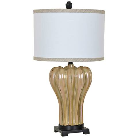 Crestview Collection Rucci Beige-Brown Ceramic Table Lamp