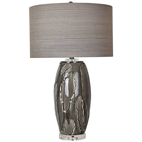 Crestview Collection Pompe Blue Obsidian Ceramic Table Lamp