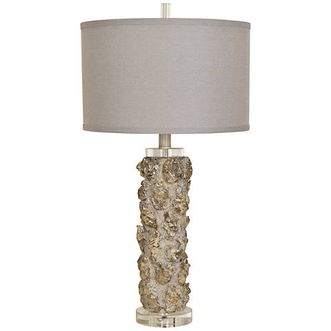 Crestview Collection Oyster Sands Tall Sculptural Table Lamp