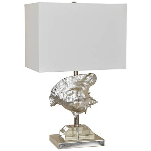 Crestview Collection Conch Silver Faux Seashell Table Lamp