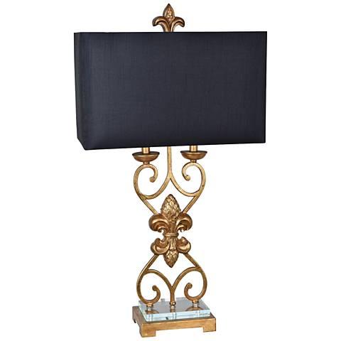 Crestview Collection Le Fleur Antique Gold Metal Table Lamp