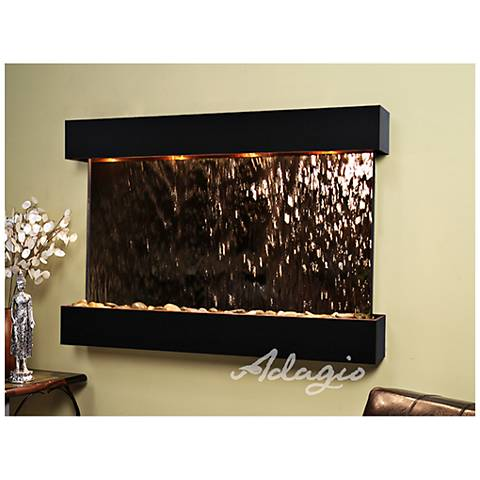 "Sunrise Springs 35"" High Bronze Mirror Indoor Wall Fountain"