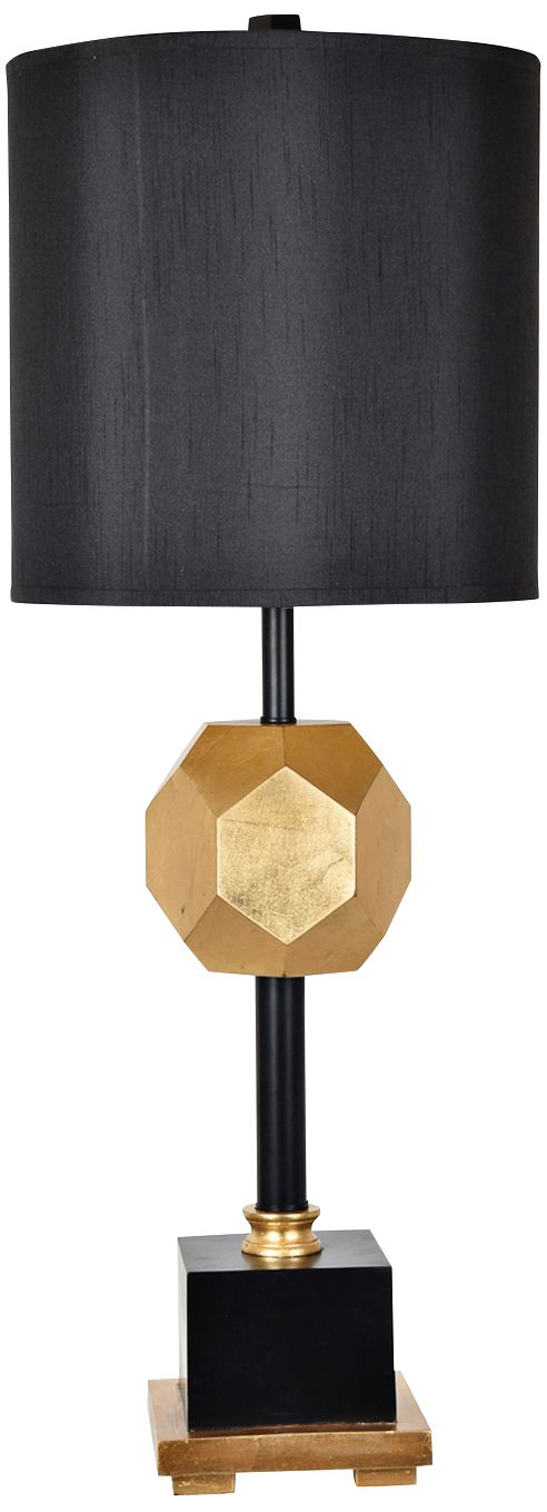Crestview Collection Martens Gold Leaf And Black Tall Table Lamp