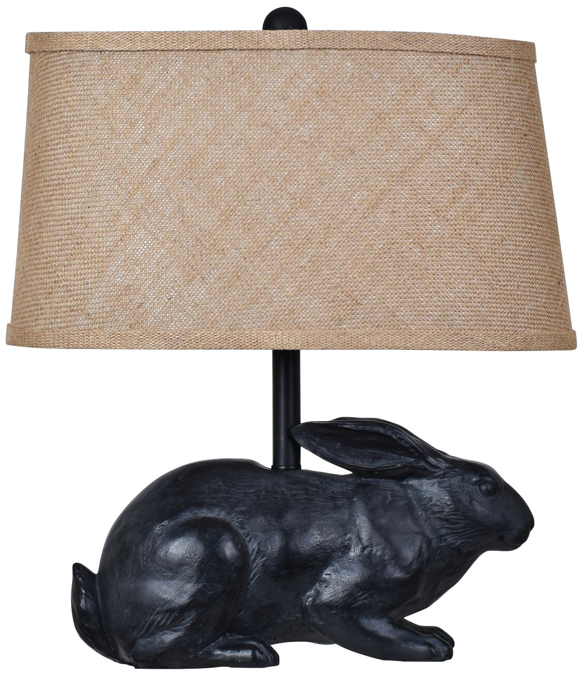 Crestview Collection Rabbit Black Animal Sculpture Table Lamp