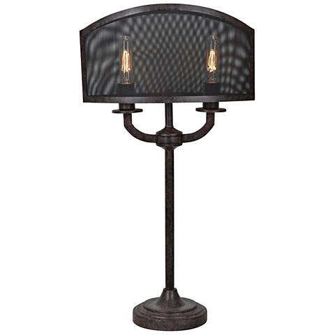 Crestview Collection Brooks Antique Brown 2-Light Table Lamp