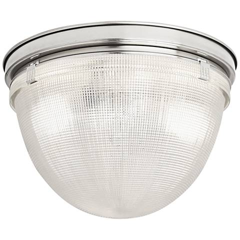 "Robert Abbey Brighton 13 3/4""W Polished Nickel Ceiling Light"
