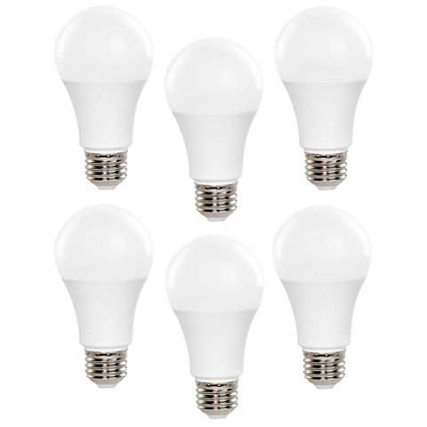 60 Watt Replacement Non-Dimmable A19 LED Light Bulb 6-Pack