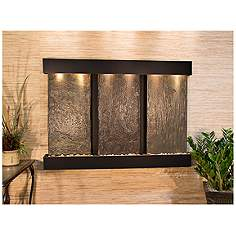 olympus falls 54h natural slate indoor copper wall fountain - Slate Wall Fountains Indoor