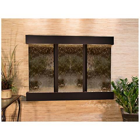 "Olympus Falls 54""H Bronze Mirror Indoor Copper Wall Fountain"