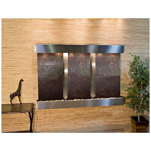 "Olympus Falls 54""H Featherstone Indoor Steel Wall Fountain"