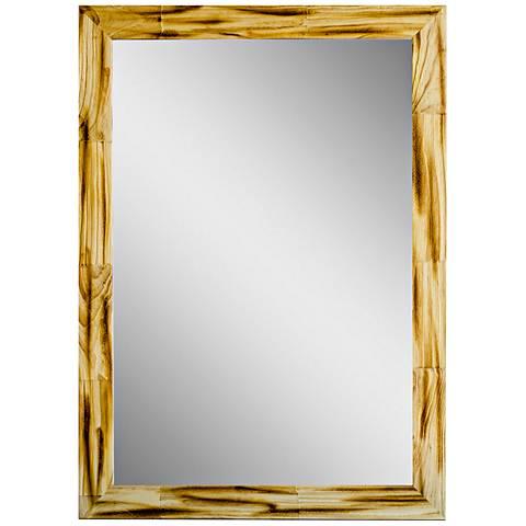 "Crestview Natural 31 1/2"" x 41 1/2"" Wood Wall Mirror"