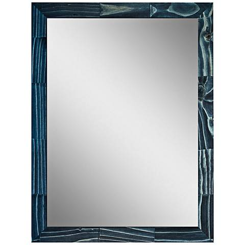 "Crestview Blue Stain 31 1/2"" x 41 1/2"" Wood Wall Mirror"