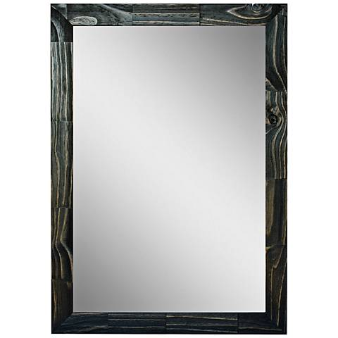 "Crestview Black Stain 31 1/2"" x 41 1/2"" Wall Mirror"