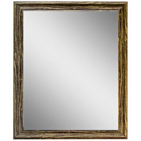 """Crestview Collection Dark Grain 29"""" x 35"""" Wall Mirror"""