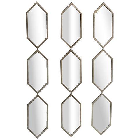 "Triple Play Champagne 6&qot; x 38"" 3-Piece Accent Mirror Set"