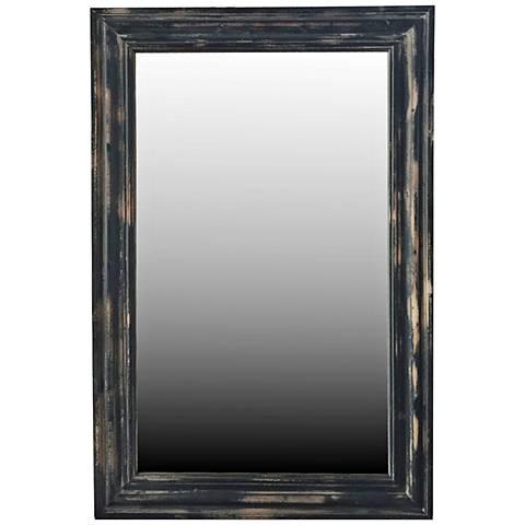 "Crestview Adair Black Rub 24"" x 36"" Framed Wall Mirror"