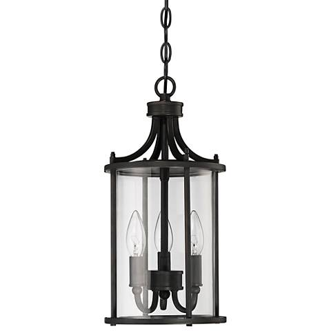 "Carlton 16 1/2""H  Aged Brushed Bronze Outdoor Hanging Light"
