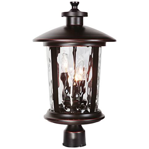 """Summerhays 17 1/4""""H Gilded Oiled Bronze Outdoor Post Light"""