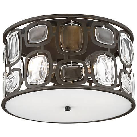 "Possini Euro Ensign 13 3/4"" Wide Bronze Ceiling Light"