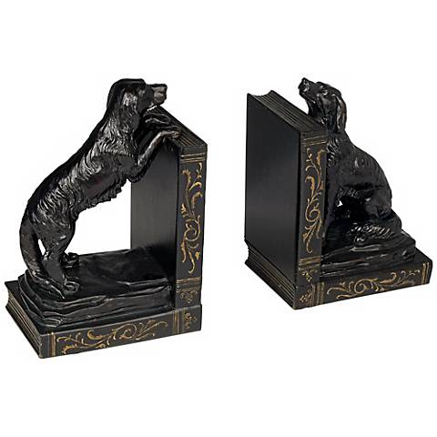 Playful Retriever Bookends Set