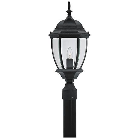 "Tiverton 21 1/2""H Clear Glass Black Outdoor Post Light"