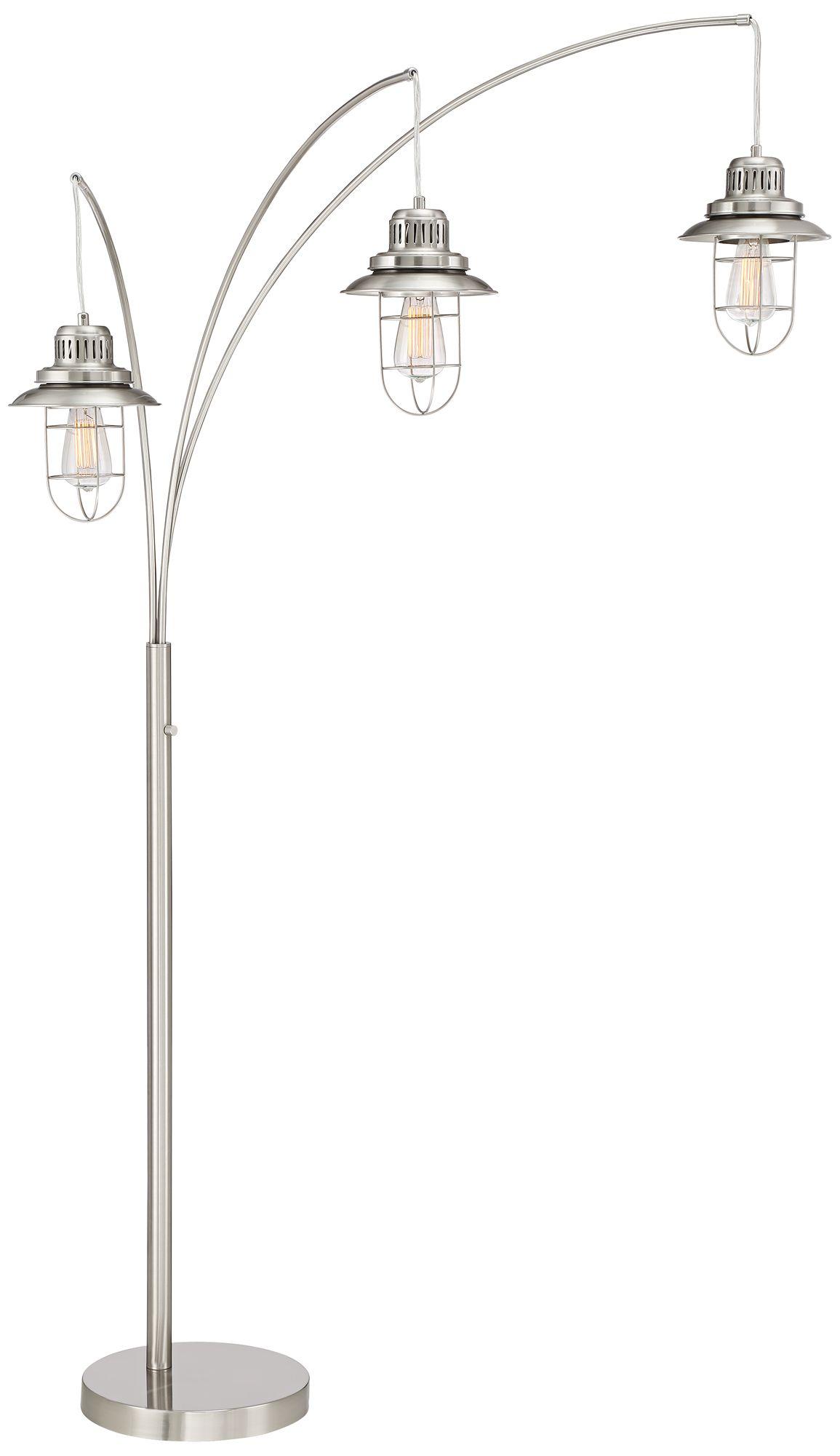 barrow industrial lantern 3light arc floor lamp