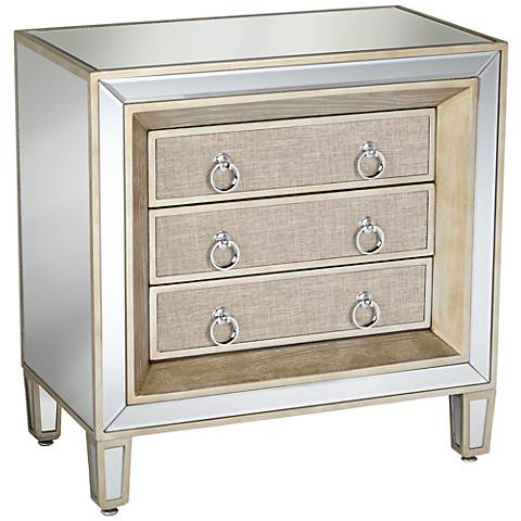 Mira Mirrored 3-Drawer Accent Table