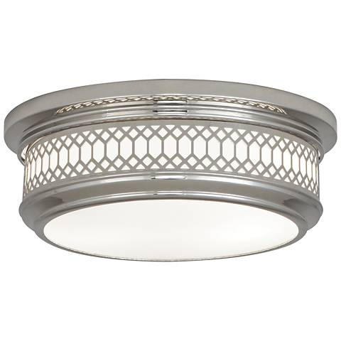 "Tucker 10 3/4""W Polished Nickel Ceiling Light"
