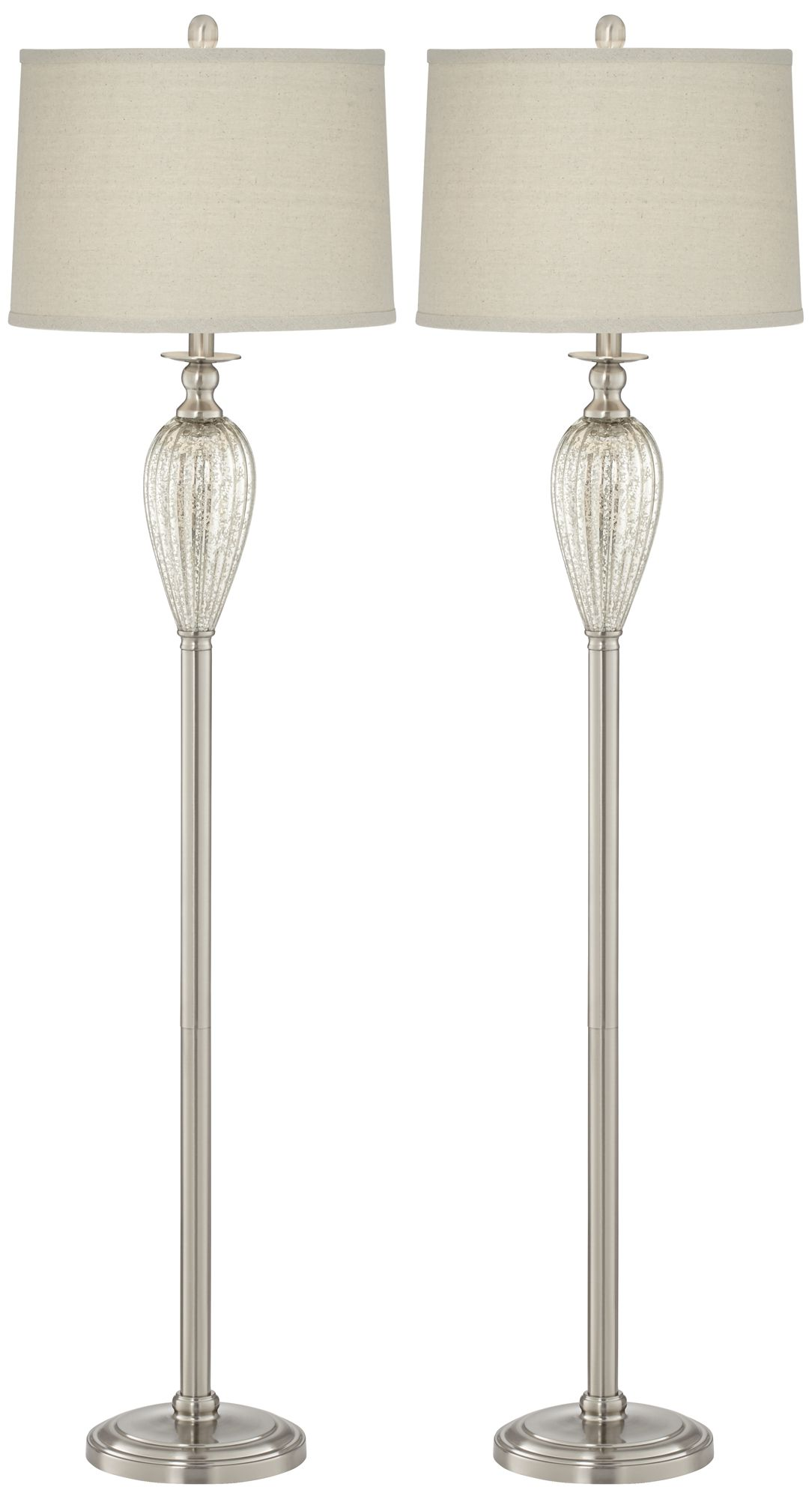 Crestview Charla Mercury Font Floor Lamp Set Of 2