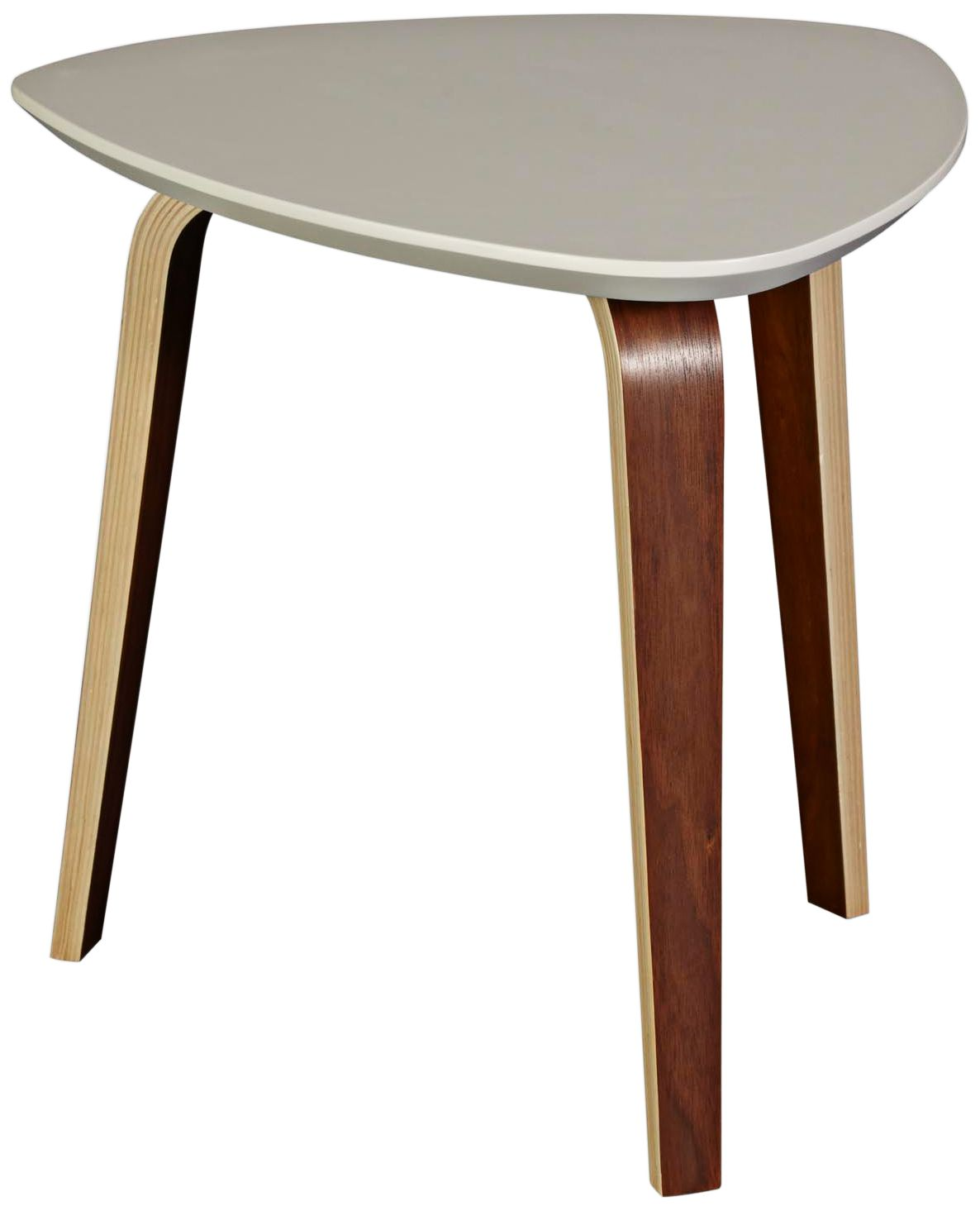 Stacey Ivory Top And Dark Walnut Small Coffee Table