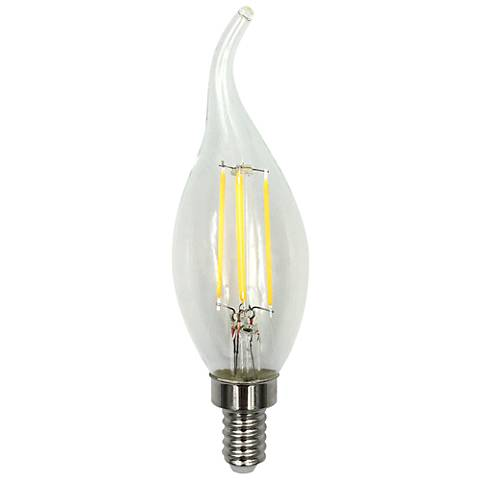 40W Equivalent Clear 4W LED Dimmable Flame-Tip Candelabra