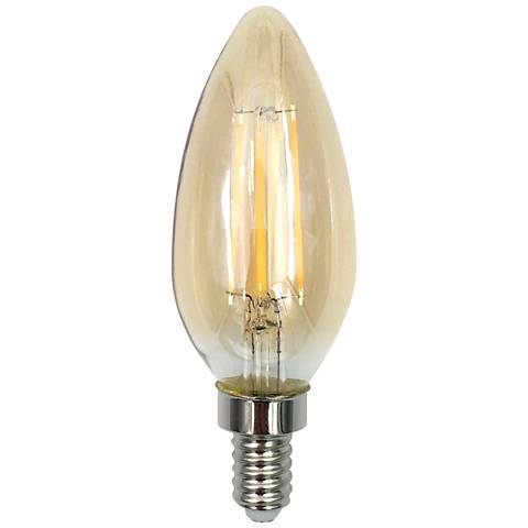 40W Equivalent Amber 4W LED Dimmable Filament Candelabra