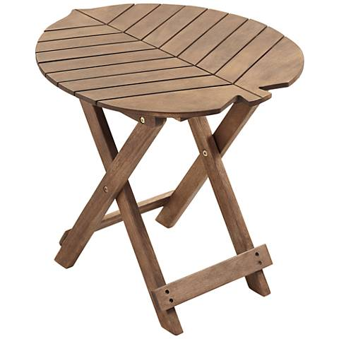 Monterey Leaf Natural Wood Outdoor Folding Table