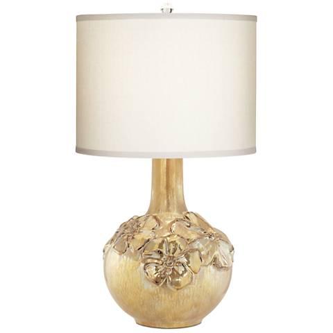 Poppy Multi-Tone Gold Floral Vase Table Lamp