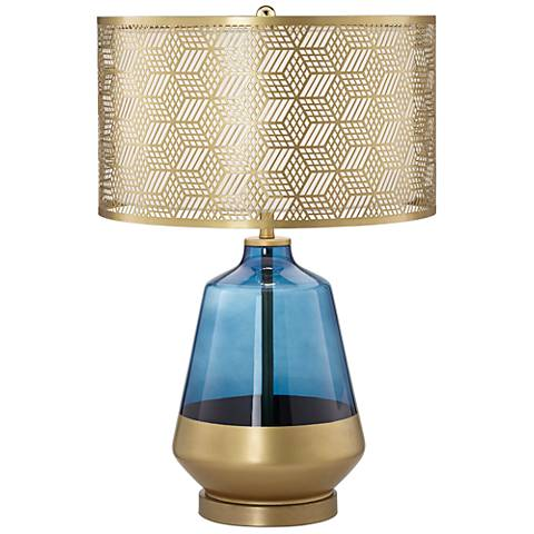Taurus Cobalt Blue and Gold Tapered Jug Table Lamp