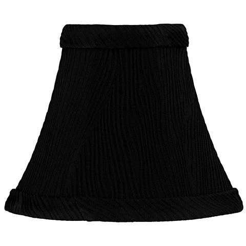 Ritsem Black Ribbed Softback Bell Lamp Shade 3x6x5 (Clip-On)