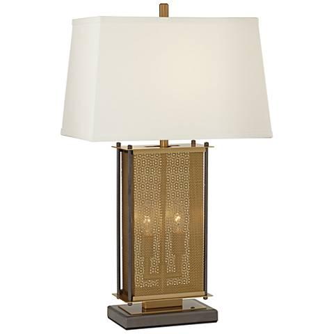 Adonis Antique Brass Nightlight Table Lamp